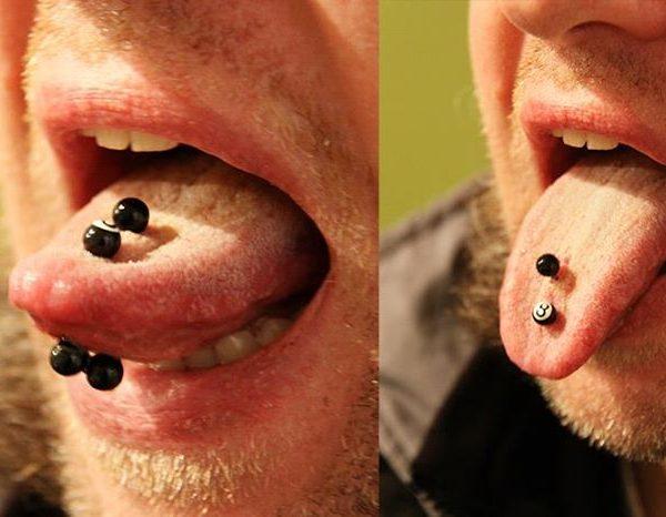 Zunge doppelt