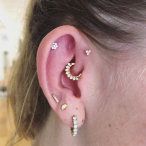 helipiercing forward helix daith high lobe