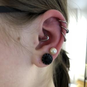 triple helix daith piercing lobe