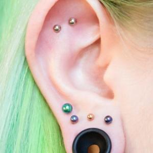 flat lobe piercing