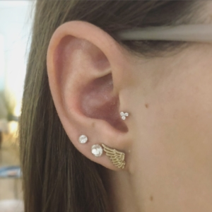 tragus piercing lobe piercings