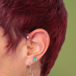 forward helix lobe piercing