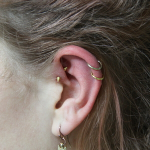 double helix piercing anti helix forward