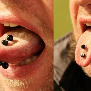 multible tongue piercing
