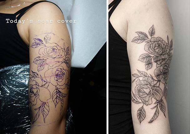 Tattoo über narben ritzen